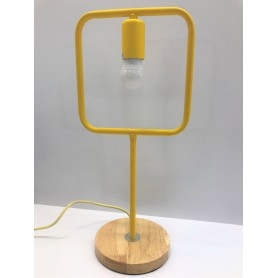 Lampa de masa JH-567 D15xH40cm, E271, Metal Wood,Yellow